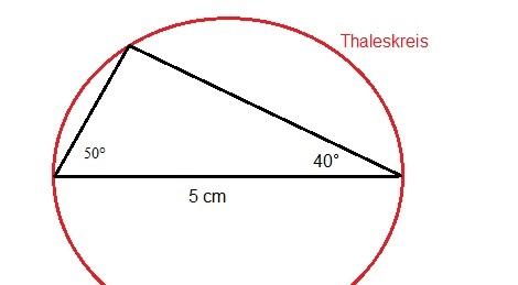 Satz des Thales Lösung Aufgabe 5