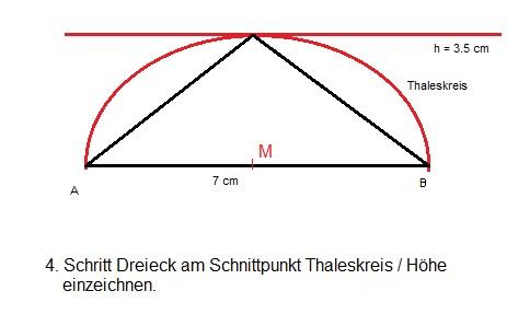 rechtwinkliges Dreieck einzeichnen