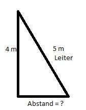 Leiter Rechenaufgabe Satz des Pythagoras